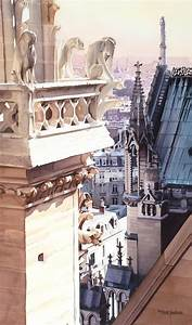 """""""""""Aspire"""" Cathedral of Notre Dame Watercolor"""" by Paul ..."""