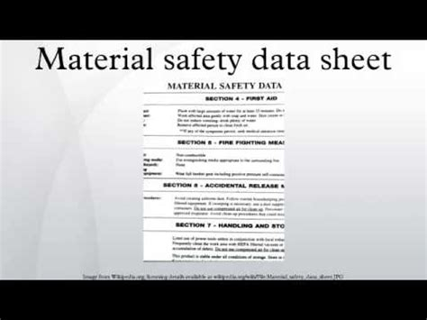 material safety data sheet youtube