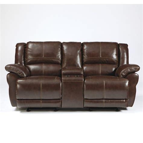 Patio Loveseat Glider Cushions by Ashley Furniture Lenoris Leather Glider Reclining Loveseat