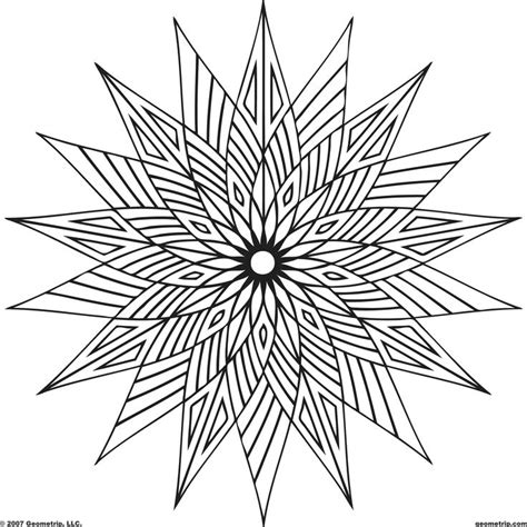 geometric coloring pages pictures