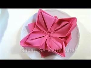 Servietten Rose Falten : servietten falten lotusbl te youtube ~ Eleganceandgraceweddings.com Haus und Dekorationen