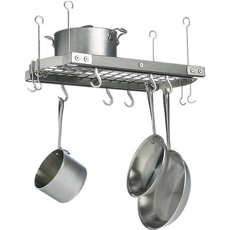 kitchen overhead pot racks j k small grey ceiling pot rack reviews crate