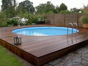 Pool Dach Rund : above ground pool decks 40 modern garden swimming pool ~ Watch28wear.com Haus und Dekorationen