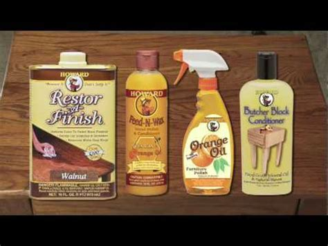 Howard Products Demonstration: Restor A Finish, Feed N Wax