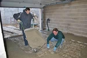 Couler Une Chape : couler dalle beton garage la du sous sol mob bioclimatique ~ Melissatoandfro.com Idées de Décoration