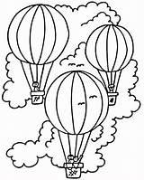 Printable Coloring Balloon Air sketch template