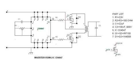 Simple Watt Inverter Circuit