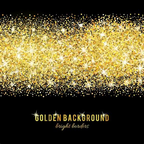 gold glitter texture isolated  black background vector