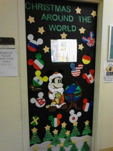 decorating ideas for christmas around the world around the world themed door new year new grade i got this 4th grade