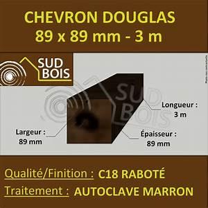 Poteau Bois Rond 3m : chevron poteau 89x89 mm douglas autoclave marron rabot ~ Voncanada.com Idées de Décoration