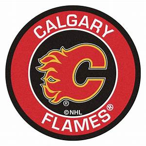 "Calgary Flames Logo Roundel Mat - 27"""