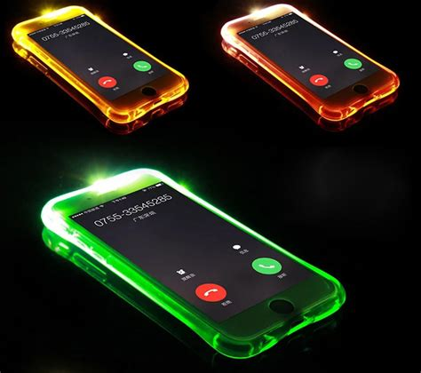 phone call flash light new soft tpu led flash light up case remind incoming call