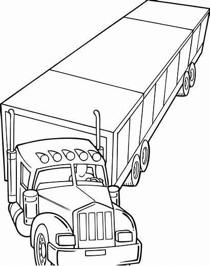 Coloring Truck Pages Wheeler Trucks Farm Sheets