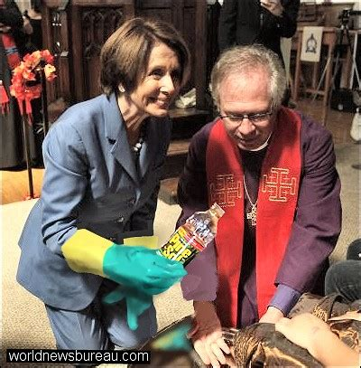 pelosi mimics pope world news bureau