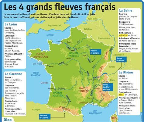 Carte Des Fleuves De Ce2 by Fiche Expos 233 S Les 4 Grands Fleuves Fran 231 Ais Ce2