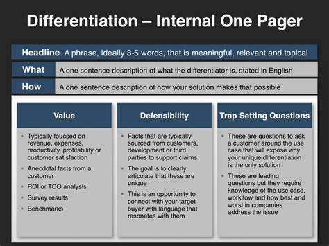 one pager template go to market strategy foundational building block slides four quadrant