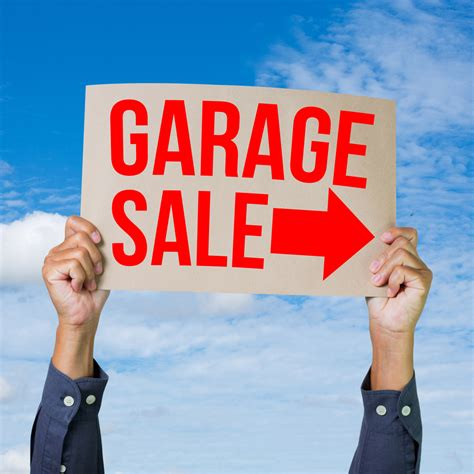 garage estate sales let the community about your weekend garage for