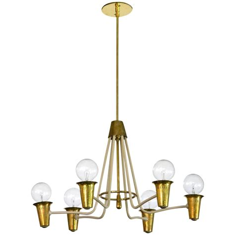 mid century modern brass chandelier for sale at 1stdibs