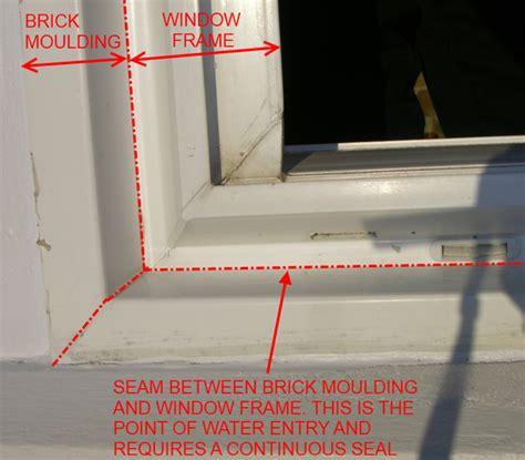 Vinyl Brickmold Leak