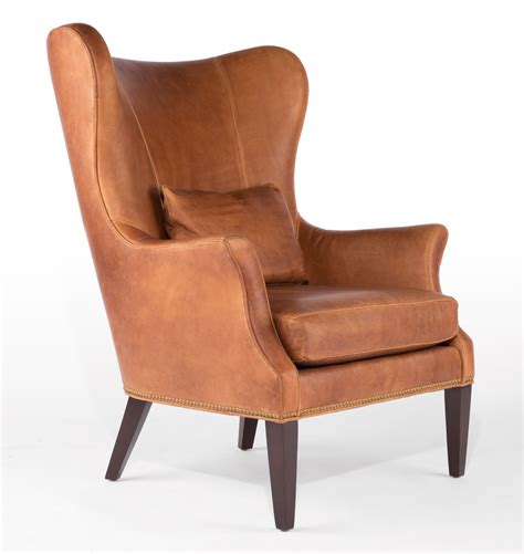 Fernsehsessel Modern Leder by Clinton Modern Wingback Leather Chair With Nailheads