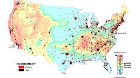 earthquake zones risk earthquakes zone map usgs prone areas cnn earth americans super nearly half geologyin
