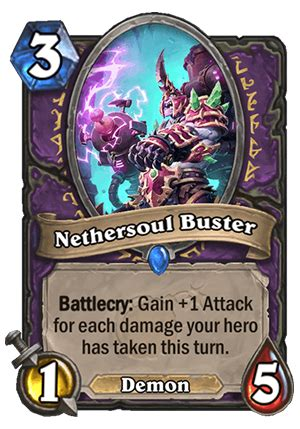nethersoul buster hearthstone card hearthstone top decks