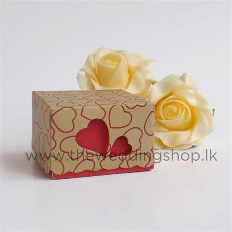 heart wedding cake box