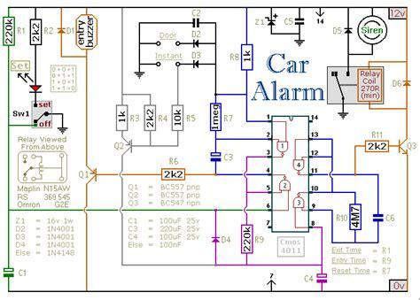build  simple car alarm  immobilizer