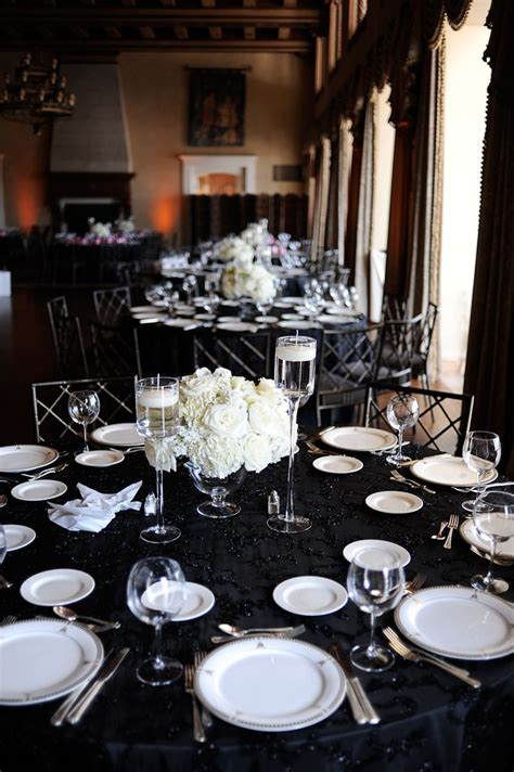 Black And Silver Wedding Reception Classic Black And