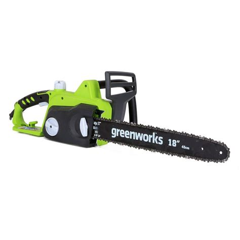 greenworks    amp electric chainsaw gw
