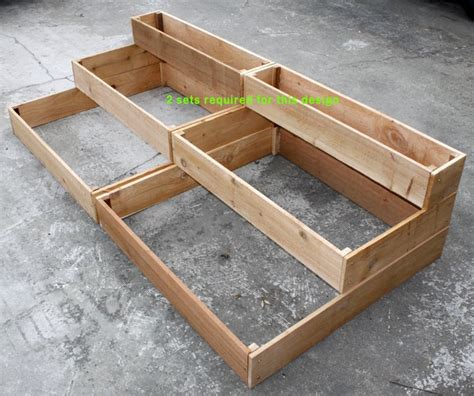 cedar raised 3 tiered planter bed garden pallet planters