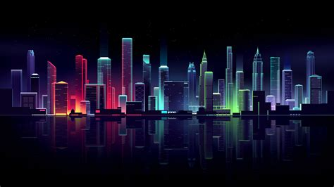 Neon Anime Wallpaper - neon cityscape wallpapers hd wallpapers