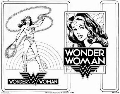 Coloring Pages Wonder Woman Printable Adult Dc