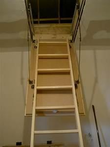 Escalier Escamotable Grenier : pose escalier escamotable home sweet home ~ Melissatoandfro.com Idées de Décoration