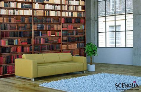papier peint intissé chambre adulte poster mural trompe l 39 oeil bibliothèque avec de vieux livres