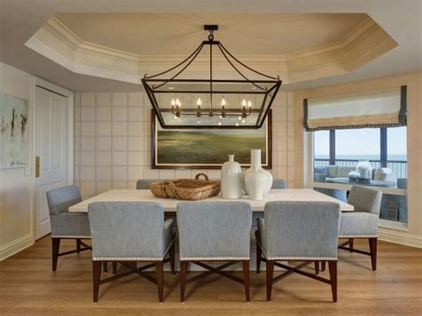 kitchen lighting ideas for low ceilings dining room linear lantern lighting features black iron