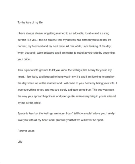 sample  love letters  husband