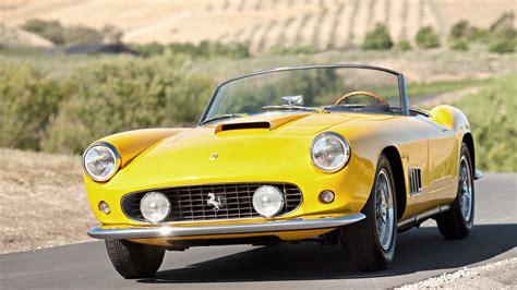 Vintage Ferrari Convertible Yellow 4k Ultra Hd Wallpaper