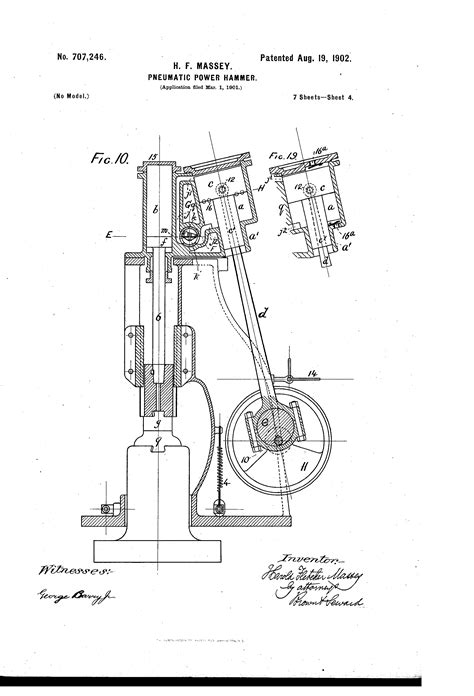 Patent US707246 - Pneumatic power-hammer. - Google Patents