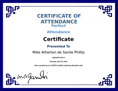 certificate of attendance seminar template certificate of attendance free certificate of attendance template format sle