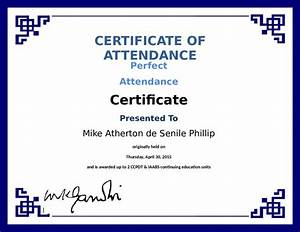 Perfect Attendance Certificate Template Printable Attendance Certificates Blank Certificates