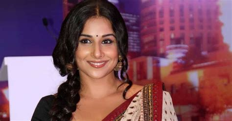 beautiful north indian girl vidya balan hot  white saree