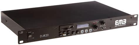 rack mount digital recorder emb professional djr20 1u single usb sd digital player
