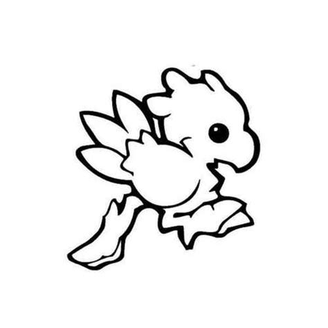 final fantasy baby chocobo decal sticker