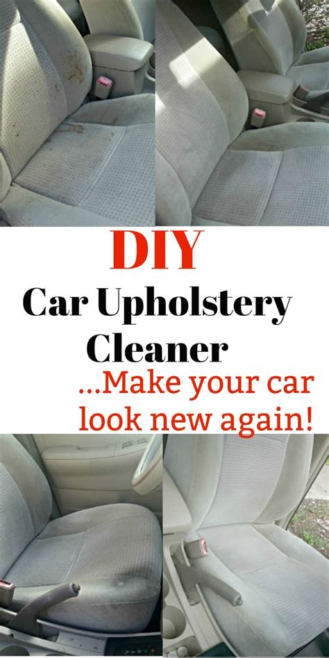 Best Upholstery Cleaner For Cars by Diy Car Upholstery Cleaner Make Your Interior Look Brand New