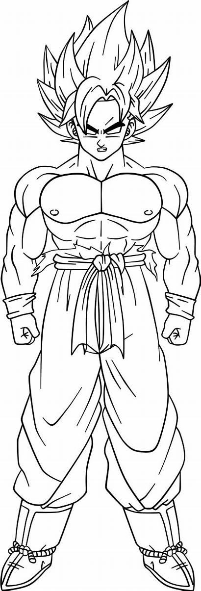 Goku Saiyan Super False Coloring Pages Deviantart