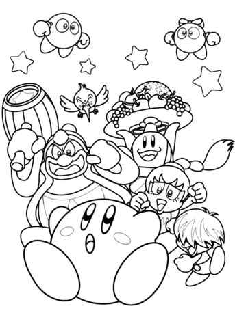 nintendo coloring pages nintendo kirby coloring page free printable coloring pages