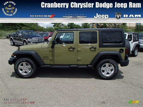 jeep unlimited green 2013 jeep wrangler unlimited sport s 4x4 in commando green