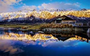Lake, Wakatipu, New, Zealand, Reflection, Water, 2560x1600