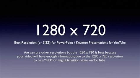 Hd Resolution For Youtube Is 1280x720 Youtube